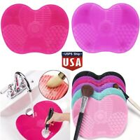 1PCS Silicone Makeup Brush Cleaner Pad Washing Scrubber Board Cleaning Mat