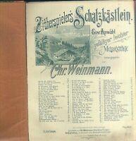 Zitherspieler's Schatzkästlein - Chr. Weinmann - privat gebunden - alt