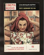 CINEMA NUOVO 98/1957 RALLI BABY DOLL KAZAN VIVIEN LEIGH BRANDO MONROE BOSCO LANE