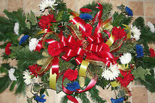 4th of July Patriotic Ribbons Grave Blanket Military Cemetery Headstone 5'x3'