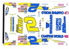 #2 Clint Bowyer Camping World Chevrolet 1/32nd Scale Slot Car Waterslide Decals