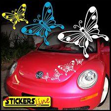 Kit adesivi FARFALLE 1 adesivi per SMART FIAT 500 car Butterfly stickers