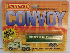 1983 MATCHBOX CY-5 CONVOY PETERBILT INTERSTATE TRUCKING TRAILER NEW ON DAMAGED C