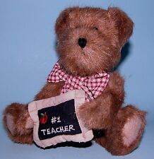 Boyds Bears plush 8 in. jointed bear #1 Teacher # 903045, New, Miss Bea Wise