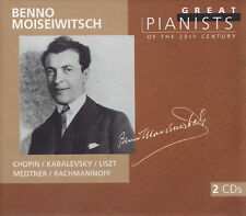BENNO MOISEIWITSCH - 2 CD - CHOPIN / KABALEVSKY / LISZT / MEDTNER / RACHMANINOFF