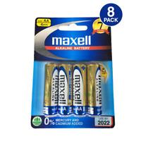 Maxell AA LR6(GD) 1.5V Alkaline Battery 0% Mercury and Cadmium (8 Batteries)