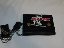Disney Leather Chain Wallet Pure Gaming Video Game Htf Gamer