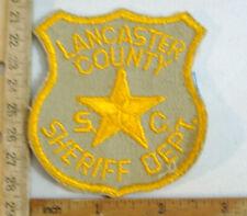 LANCASTER COUNTY SOUTH CAROLINA POLICE  FABRIC PATCH