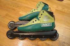 Roces ATL Five Wheel Inline Pro Touring Speed Skates Mens sz. US 8