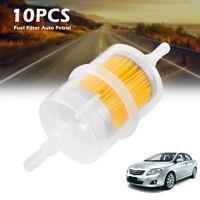 10x Universal Grand Essence Inline Filtre essence Auto Car Part Fit 6 Tuyaux 8mm