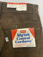 Vintage Levis Corduroy Pants 1980's Brown BELL BOTTOMS USA 25 X 24 Youth