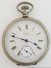 Elgin 16S Fancy Pink Yellow Roman Dial Antique Running Pocket Watch
