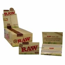 5 Packs x RAW Natural Single Wide Organic Hemp Double Rolling Papers