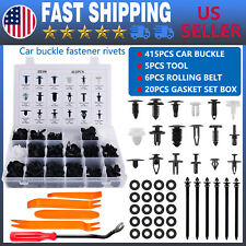 446Pcs Car Retainer Clips Auto Fasteners Push Trim Clips Pin Rivet Bumper Kit
