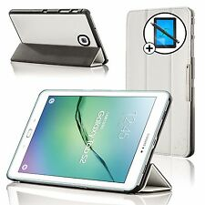 Leather White Smart Case Cover Samsung Galaxy Tab S2 8.0 T710 Screen Prot Stylus