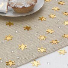 Tischdeko Weihnachten Schneekristall gold 28 g - Streudeko Weihnachten Advent