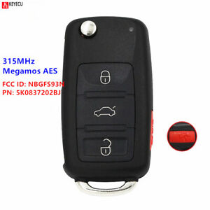 Remote Car Key Fob NBGFS93N 5K0 837 202 BJ For VolksWagen Jetta Passat 2017 2018