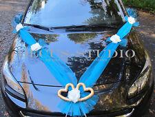 Girlande für Dekoration von Brautauto Hochzeit Autodeko Autoschmuck Turkis