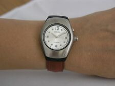 Seiko womens watches kinetic leather strap stainless steel SWP277P1