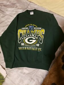 Vintage 90s 1996 Green Bay Packers NFC Champions Men's Sweater Size Large