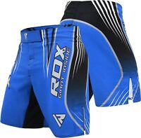 RDX MMA Shorts Kick boxing Grappling Trunks Cage Fighting Gym Combat Training