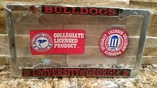 2 - Officially Licensed Georgia Bulldogs Metal License Plate Frame - Car Auto