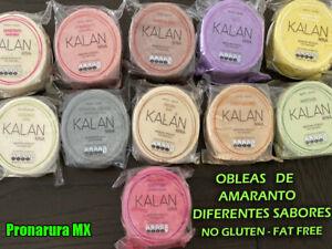 3 PACK OBLEAS DE AMARANTO NO GLUTEN-FAT FREE DIF SABORES -  AMARANTH WAFERS