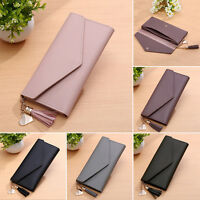 Women Soft Leather Wallet Long Zip Purse Card Holder Case Clutch Phone Handbag