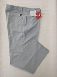 NWT PUMA Gray Polyester/Elastane Men's Sport Chino Pants,Size38X30