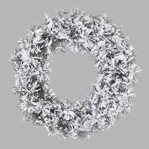 Snow Effect Christmas Wreath (50cm)