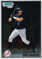 2010 BOWMAN CHROME 1ST CARD GARY SANCHEZ ROOKIE. NEW YORK YANKEES HOT!