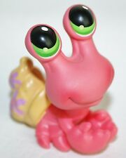 Littlest Pet Shop #62 Hermit Crab Pink with Yellow Shell Green Eyes LPS