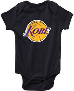 Baby BLACK Kobe Bryant The Black Mamba Logo Los Angeles Lakers Creeper Romper