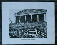 LPZ) Blatt 12. Deutsche Turnfest Leipzig 1913 Königsloge Adel Monarchie Sieger++