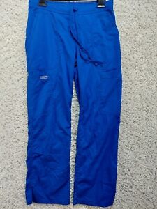 Cherokee Women's Workwear Pants XS Blue Petites Pockets Drawstring 2091