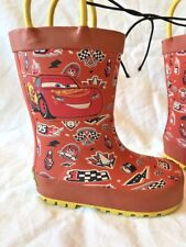 Cars Rubber Rain Boots Galoshes Toddler Size 5