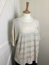Ladies Fenn Wright Mason Top. Cream & Sequin. Size 16-18. Ex Cond.