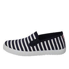 scarpe bambino profumate CIENTA 27 EU slip-on blu bianco tessuto AD778-F