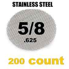 "200 x Stainless Steel Tobacco Pipe Screens  5/8"" .625"" Size"