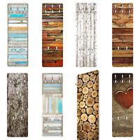 Wand Garderobe für Flur Möbel Holz Optik Maritim Rustikal Brett Birke Liebe Baum