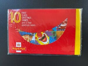 """10 x """"Smiles"""" First Class Greeting Stamps & 12 labels - Sealed, mint condition"""
