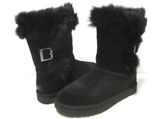 UGG DEENA WOMEN SHORT BOOTS SUEDE BLACK US 6 /UK 4.5 / EU 37 / JP 23
