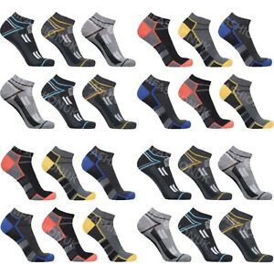Mens Trainer Liner Ankle Socks Cotton Rich Low Cut Sports Socks Size 6-11