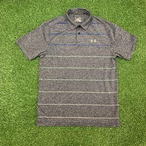 UNDER ARMOUR, Mens Size M, Grey, HEATGEAR, Loose Fit, Golf Polo Shirt