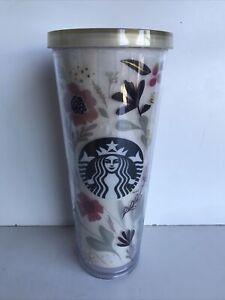 Starbucks Harvest Floral Venti 24oz Tumbler 2014