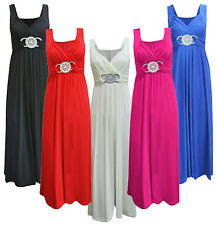 BUCKLE MAXI DRESS LONG BRIDESMAID GOWN BALL PARTY EVENING PROM PLUS SIZE 8-26