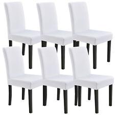 [neu.haus] 6x Stuhlhusse 42-53cm Weiß Schonbezug Stuhlbezug Stuhlüberzug Stretch