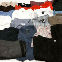 Mens 3XL Clothes Lot 23 Piece Mixed Clothing Button Downs Short & Long Sleeve
