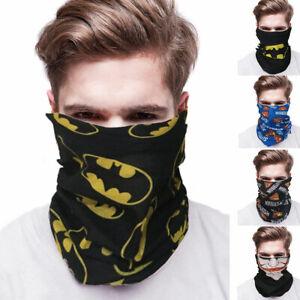 Mask Sun Shield Joker Batman Bandana Superman 1 Face Neck Gaiter Headband
