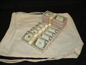 Prop Novelty Money Filler Packs 10 x $10K Solid Blocks.Legal Single Sided